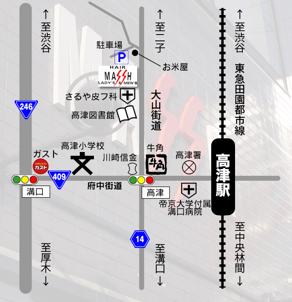 Hair shop MASSH -マッシュ- MAP